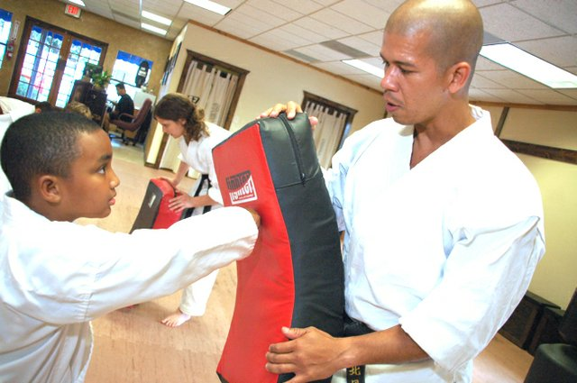 Sensei James Taylor teaches budding karate stars at North Wind Martial Arts in Oviedo.