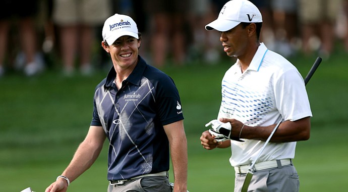 Rory McIlroy and Tiger Woods will tee off at 1:55 p.m. EDT at East Lake.