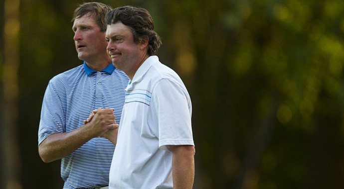 Sean Knapp (left) lost to long-time friend Nathan Smith in the 2012 U.S. Mid-Amateur.