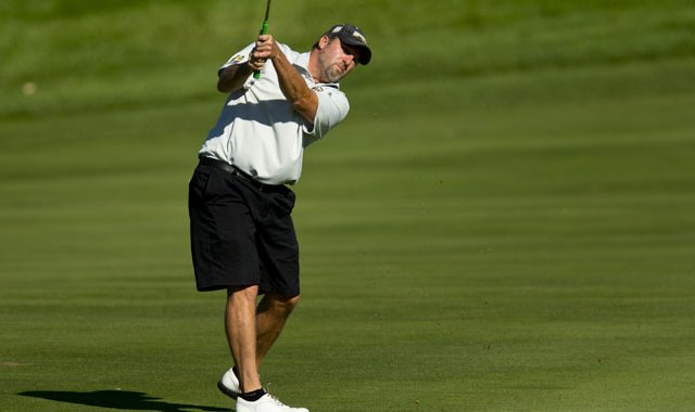 Charlie Blanchard defeated Brad Valois in the Round of 32 at the U.S. Mid-Amateur.
