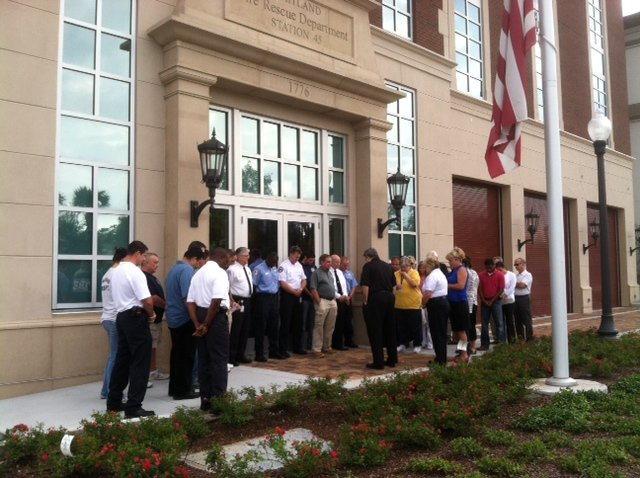 Members of the Maitland Fire Rescue Department and city staff attended a ceremony at City Hall on Tuesday, which marked the 11th anniversary of the Sept. 11, 2001, attacks.