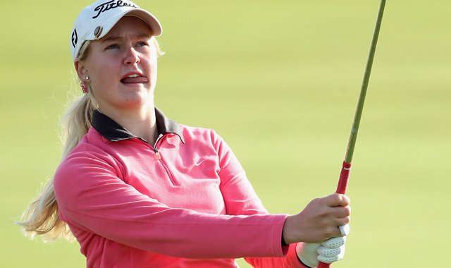 Charley Hull fired a 1-under 71 in the first round of the Ricoh Women&#39;s British Open at Royal Liverpool Golf Club.