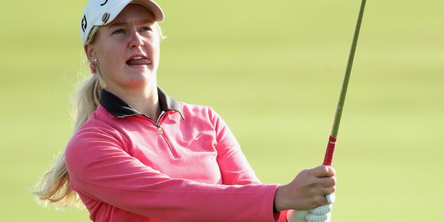 Charley Hull fired a 1-under 71 in the first round of the Ricoh Women's British Open at Royal Liverpool Golf Club.