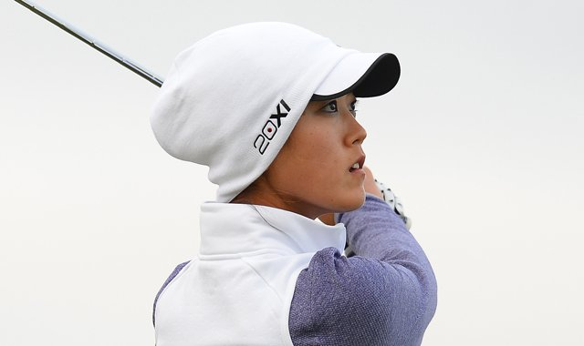 Michelle Wie during the second round of the Women&#39;s British Open.