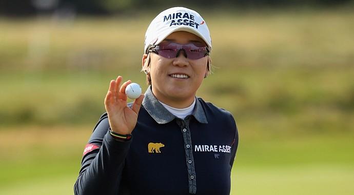 Jiyai Shin during the second round of the Women's British Open.