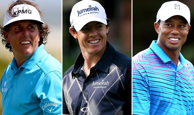 Phil Mickelson, Rory McIlroy and Tiger Woods can all win the FedEx Cup with a win at the Tour Championship.