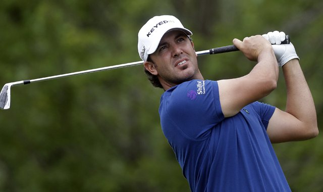 Scott Piercy during the first round of the Tour Championship.