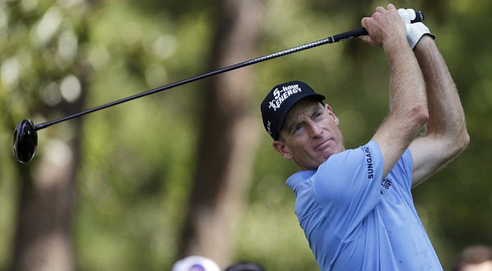 Jim Furyk during the second round of the Tour Championship.