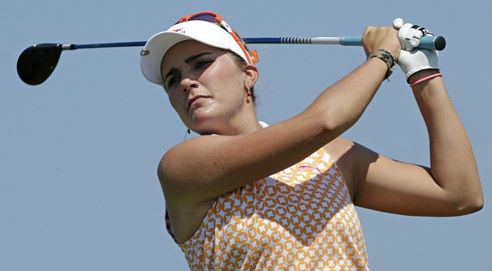 Lexi Thompson during the second round of the Navistar LPGA Classic.
