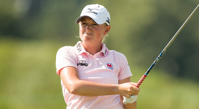 Stacy Lewis during the third round of the Navistar LPGA Classic.