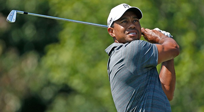 Tiger Woods during the third round of the Tour Championship.