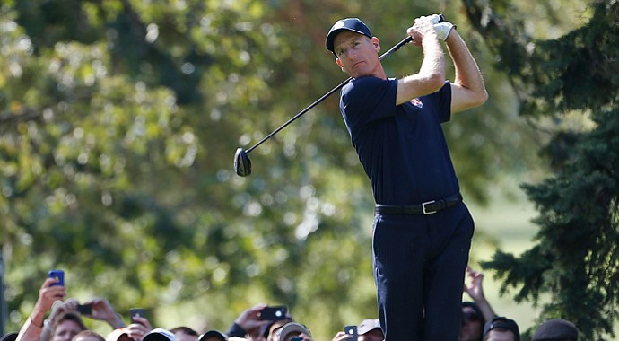 American Jim Furyk went 5-0 in the Presidents Cup in 2011.
