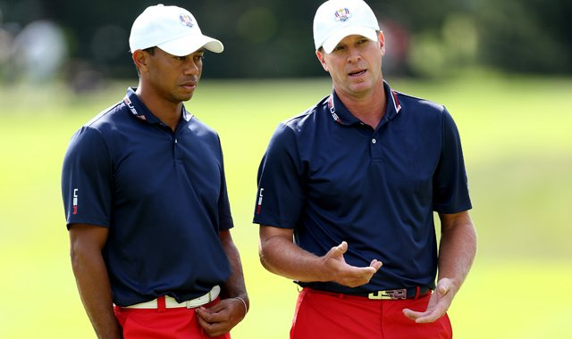 Tiger Woods and Steve Stricker have played two practice rounds together at Medinah.
