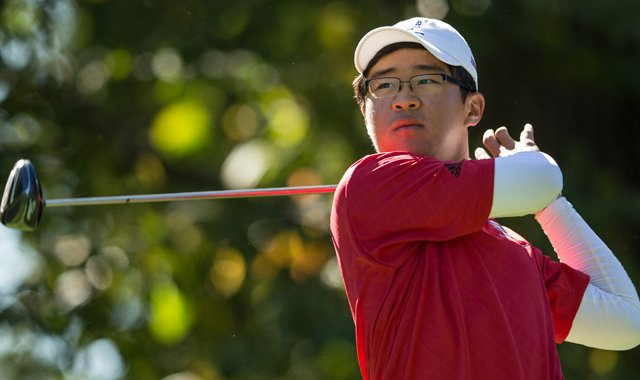 Jim Liu of the United States Team tees off of the seventh hole during the morning foursomes for the 8th Junior Ryder Cup at Olympia Fields Country Club on September 24, 2012 in Olympia Fields, Illinois. 