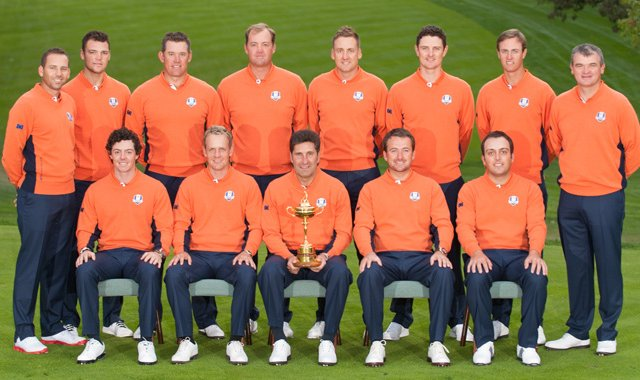 The 2012 European Ryder Cup team at Medinah CC.
