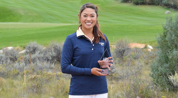 Demi Runas of UC Davis won the individual title at the Golfweek Conference Challenge.