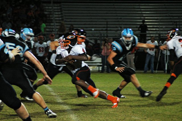Jurell Green ran for 212 yards in Oviedo's 35-13 rout of Hagerty Sept. 28.