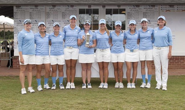 North Carolina after winning the Ruth's Chris Tar Heel, the team's second title of the season.