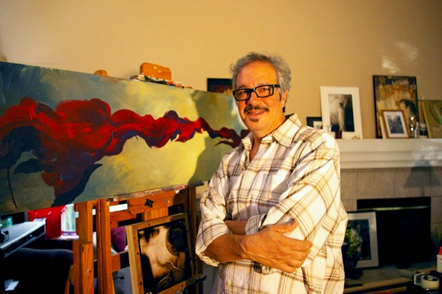 Oviedo Artist Courtney Canova in his home studio.