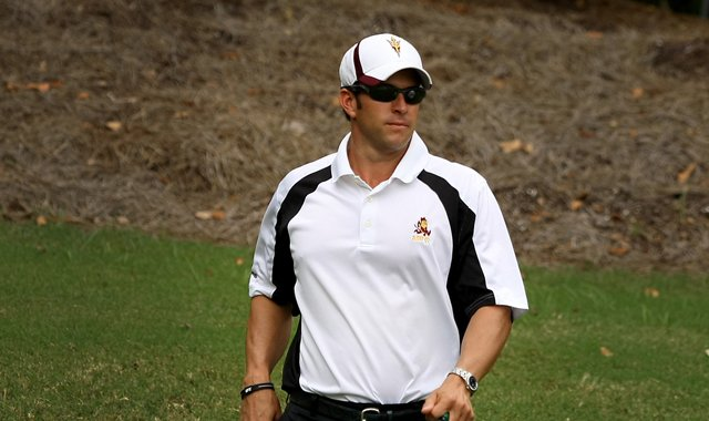 Arizona State men's golf coach, Tim Mickelson