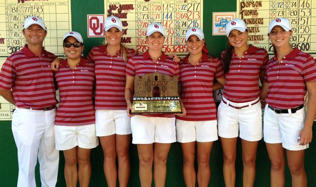 Oklahoma won its second consecutive title of the fall season on Oct. 30 with a record-breaking performance at the Alamo Invitational.