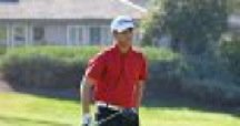 Michael Alvarez strides down the fairway during his victory at Temeku Hills.