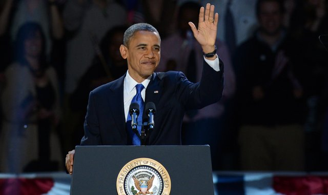 Barack Obama after winning Tuesday's presidential election.