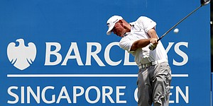 Bjorn leads rain-interrupted Singapore Open