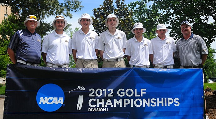 The Mount St. Mary's men's golf team at NCAA Regionals. The Mount won the 2012 Northeast Conference Championship, its first conference title in program history.
