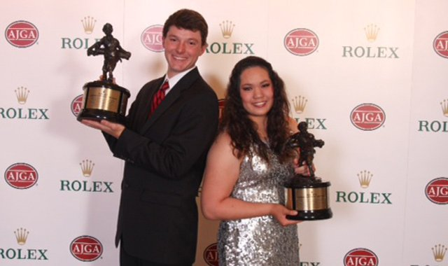 Rolex Players of the Year Matthew NeSmith and Ariya Jutanugarn.