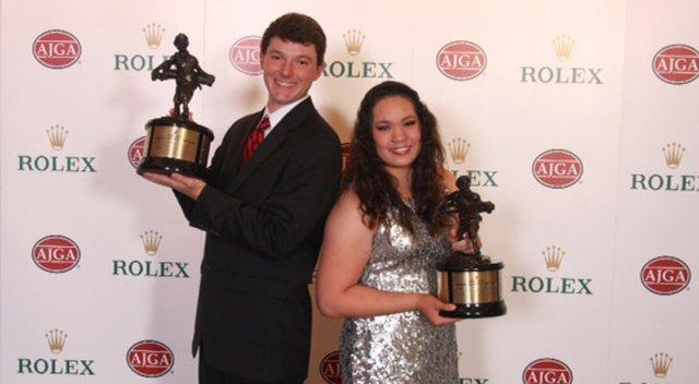 Rolex Players of the Year Matthew NeSmith and Ariya Jutanugarn.