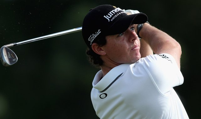 Rory McIlroy during the second round of the DP World Tour Championship on the Earth Course at Jumeirah Golf Estates.