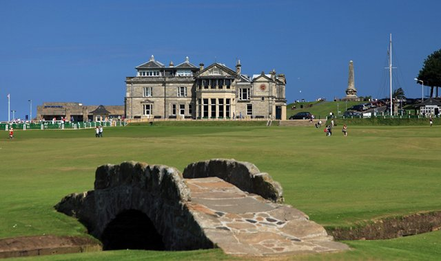 No. 18 at The Old Course in St. Andrews. 