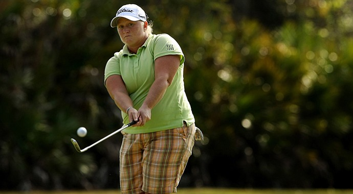 Meredith Duncan on Tuesday of LPGA Q-School at LPGA International.