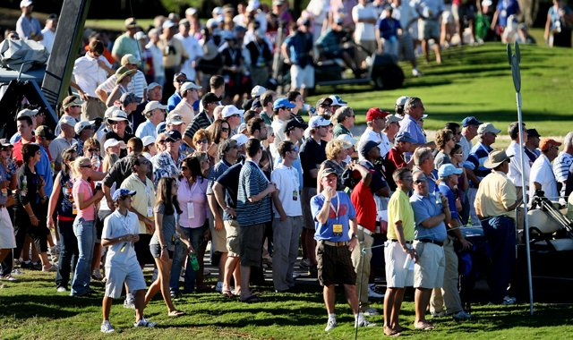 Disney's Magnolia Course won't see this type of crowd for a PGA Tour event in 2013-14 after being left off the opening part of the schedule.