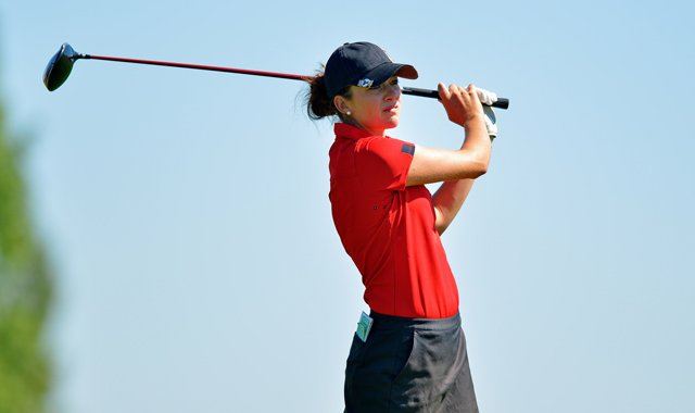 Kim Kaufman is the top-ranked female in the Golfweek/Sagarin College Rankings.