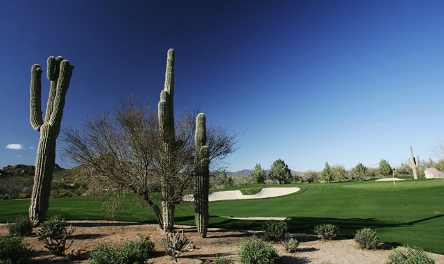 The 18th hole at Whisper Rock in Scottsdale, Ariz.