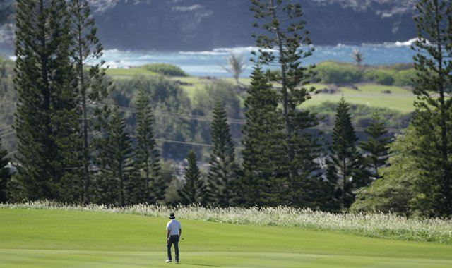 Bubba Watson at the Plantation Course in Kapalua, Hawaii.