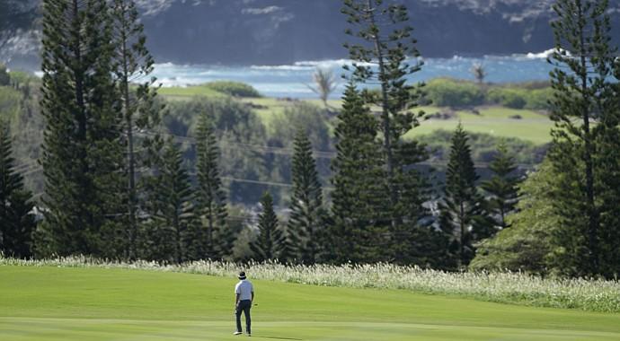Bubba Watson at the Plantation Course in Kapalua, Hawaii.