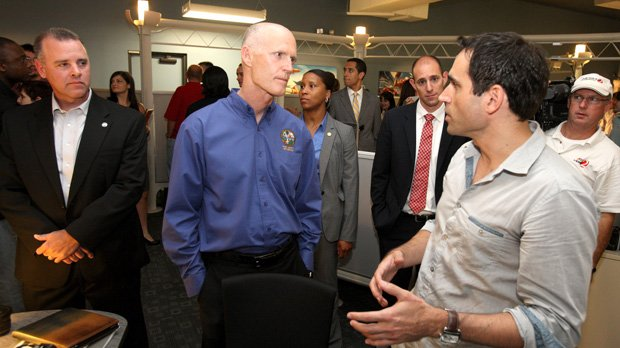 Florida Gov. Rick Scott recently visited Maitland's EA Studios to discuss tech job