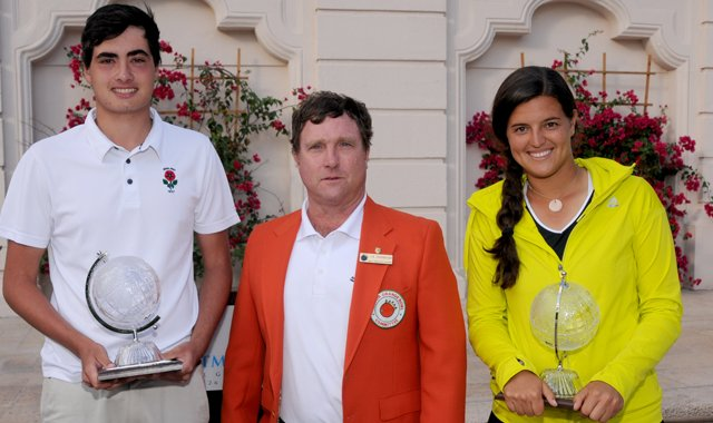 England&#39;s Patrick Kelley and Puerto Rico&#39;s Maria Torres won the 2012 Junior Orange Bowl International Golf Championship on Dec. 30. 