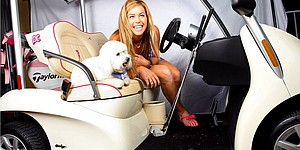 Beyond the course: Paula Creamer and her puppy
