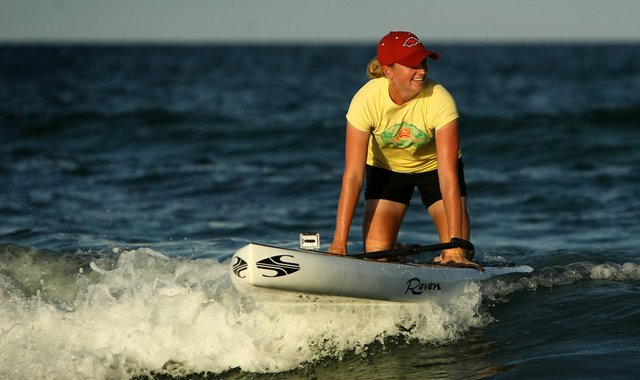Stacy Lewis has recently taken up paddle boarding as an off course hobby.