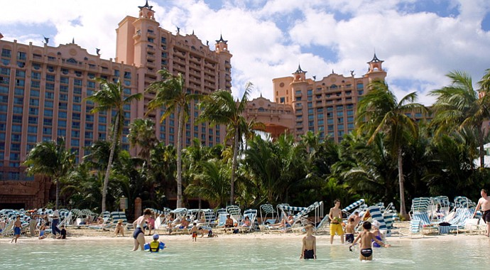 The Atlantis hotel on Paradise Island.