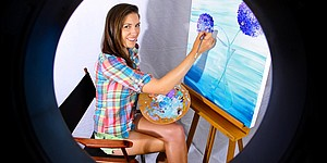 Beyond the course: Sandra Gal shows off her painting skills
