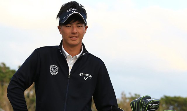 Ryo Ishikawa with his new Callaway gear.