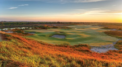 The 12th hole on Streamsong's Blue course.