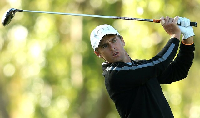 Charles Howell III hits his tee shot on the second hole during the third round of the Humana Challenge on the Palmer Private Course at PGA West.