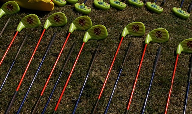 SNAG, which stands for Starting New at Golf, is launching a new line of glow-in-the-dark products on display at Demo Day.
