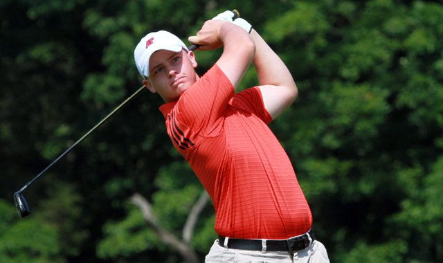 Austin Peay&#39;s Anthony Bradley won the individual title at the 2012 Ohio Valley Conference Championship.